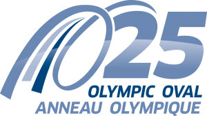Olympic Oval 25th Anniversary Logo